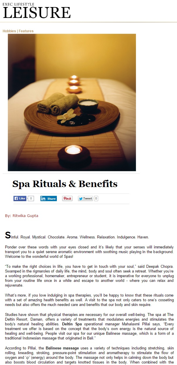 Spa article