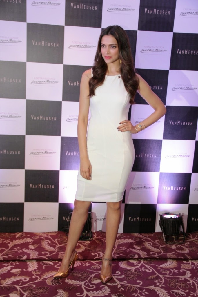 Deepika Padukone addressing the press at the Launch of her designs for S...